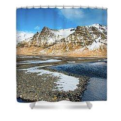 Landscape Sudurland South Iceland Shower Curtain by Matthias Hauser