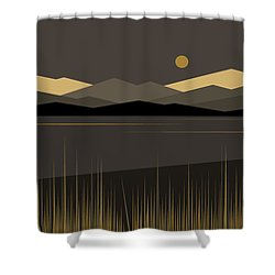 Landscape Shower Curtain by Val Arie