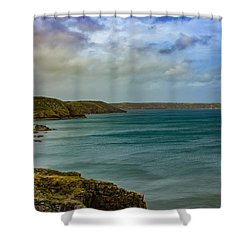 Landscape View  Shower Curtain by Claire Whatley