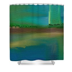 Landscape With A Chance Of Rain Shower Curtain