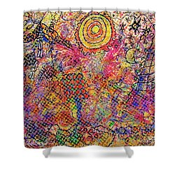 Landscape With Dots Shower Curtain