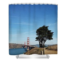 Landscape With Golden Gate Bridge Shower Curtain