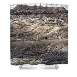 Landscape With Many Colors Shower Curtain by Melany Sarafis