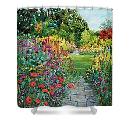 Landscape With Poppies Shower Curtain