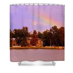Landscape With Rainbow Shower Curtain