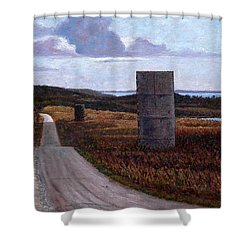 Landscape With Silos Shower Curtain