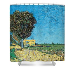 Shower Curtain featuring the painting Lane Near Arles by Van Gogh