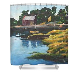 Lane's Cove Sunset Shower Curtain