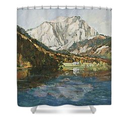 Langbathsee Austria Shower Curtain
