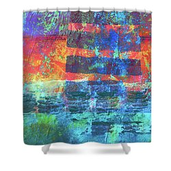 Shower Curtain featuring the painting Language by Nancy Merkle