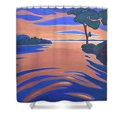 Languid Evening Shower Curtain