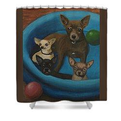Lanice's Dogs Shower Curtain