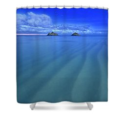 Lanikai Beach Ripples In The Sand Shower Curtain