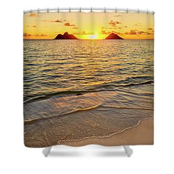 Lanikai Sunrise Between The Mokes Shower Curtain