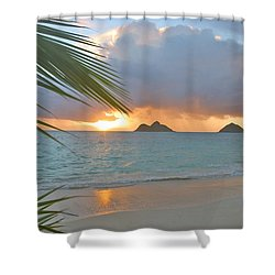 Lanikai Sunrise Shower Curtain