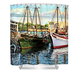 Lannon And Ardelle Gloucester Ma Shower Curtain