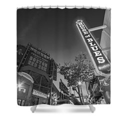 Lansdowne Street Fenway Park House Of Blues Boston Ma Black And White Shower Curtain