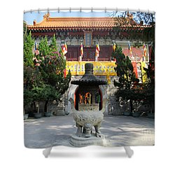 Shower Curtain featuring the photograph Lantau Island 45 by Randall Weidner