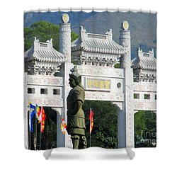 Shower Curtain featuring the photograph Lantau Island 51 by Randall Weidner