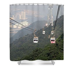 Shower Curtain featuring the photograph Lantau Island 53 by Randall Weidner