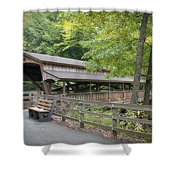 Lanterman's Mill Covered Bridge Shower Curtain