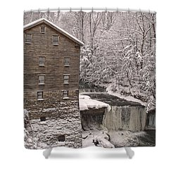 Lanterman's Mill Shower Curtain by Michael McGowan