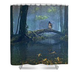 Lantern Bearer Shower Curtain