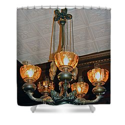 Lantern Chandelier Shower Curtain by DigiArt Diaries by Vicky B Fuller