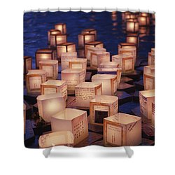 Lantern Floating Ceremony Shower Curtain by Brandon Tabiolo - Printscapes