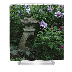Lantern With Dahlia Shower Curtain