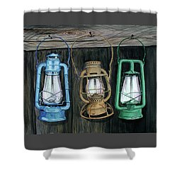 Shower Curtain featuring the painting Lanterns by Ferrel Cordle