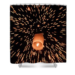 Lanterns In The Sky Shower Curtain