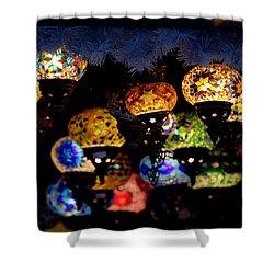 Lanterns - Night Light Shower Curtain
