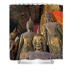 Laos_d186 Shower Curtain