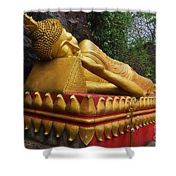 Laos_d602 Shower Curtain by Craig Lovell
