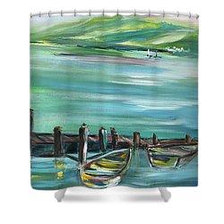 Large Acrylic Painting Shower Curtain