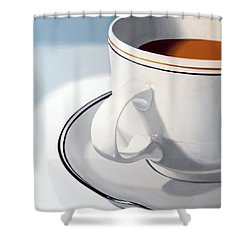 Large Coffee Cup Shower Curtain