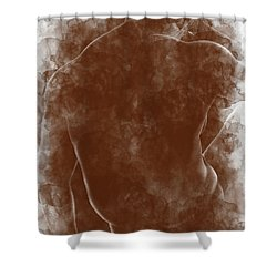 Large Man Backside Shower Curtain by Peter J Sucy