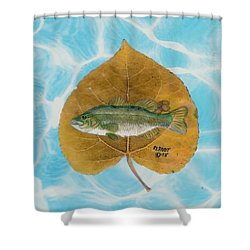 Large Mouth Bass #2 Shower Curtain