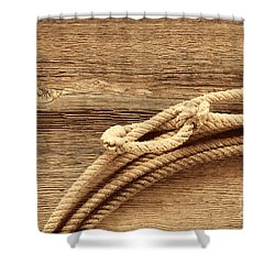 Lariat On Wood Shower Curtain
