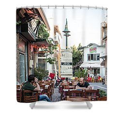 Larissa Old City Street View Shower Curtain