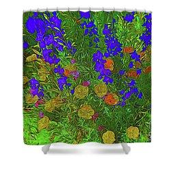 Larkspur And Primrose Garden 12018-3 Shower Curtain