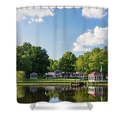 Larry Buckner - King George Shower Curtain