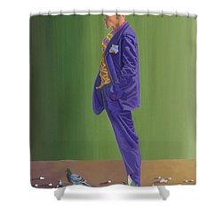 Larry Lightshoes Shower Curtain