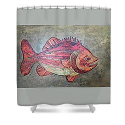 Larry Loud Mouth Shower Curtain