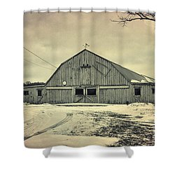 Larsen Road Barn Shower Curtain by Joel Witmeyer