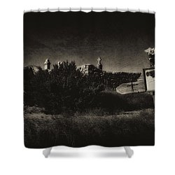 Shower Curtain featuring the photograph Las Cruces De Galisteo New Mexico by Karen Slagle