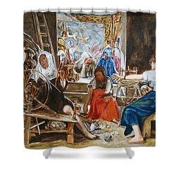 Las Hilanderas. Study Shower Curtain by Bachmors Artist