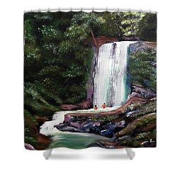 Las Marias Puerto Rico Waterfall Shower Curtain by Luis F Rodriguez