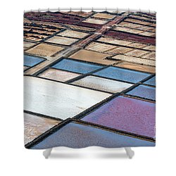 Shower Curtain featuring the photograph Las Salinas by Delphimages Photo Creations